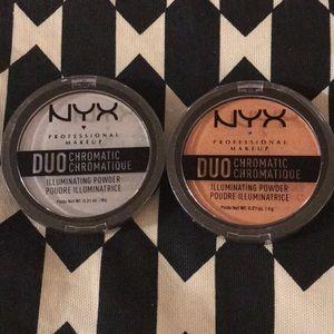 Nyx duo chromatic illuminating powder NWT